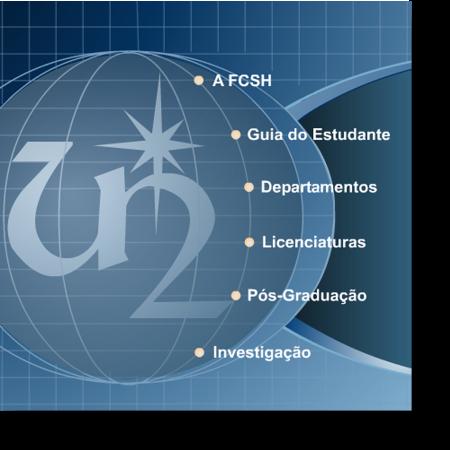 Pormenor da página de entrada (fcsh.unl.pt, 2005)